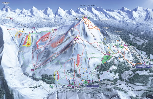 Le Grand Bornand Ski Resort Ski Trail Map