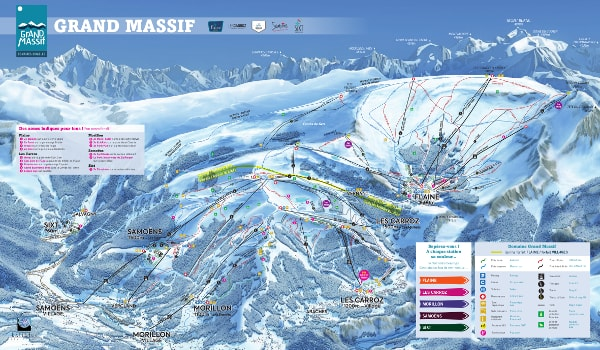 Le Grand Massif Ski Trail Map