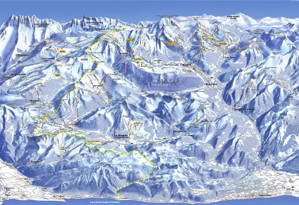 Portes du Soleil Ski Resort Ski Trail Map