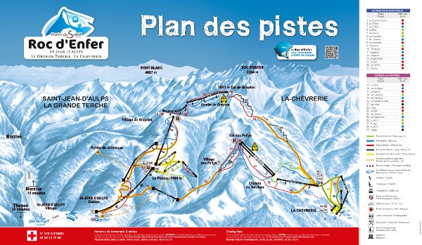 Roc d'Enfer Ski Trail Map