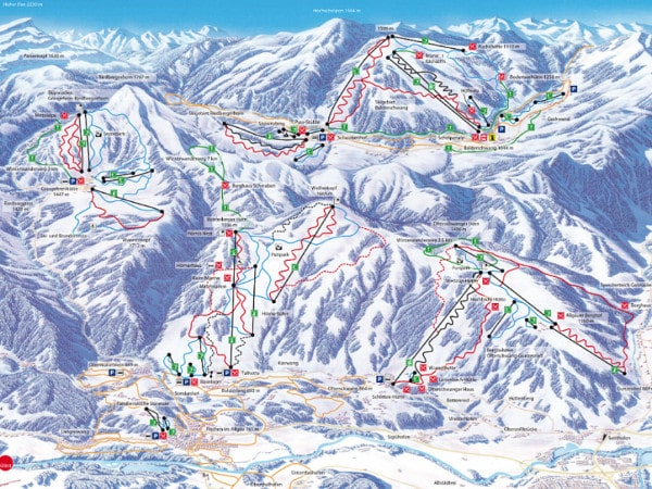 Allgau Ski Resort Ski Trail Map