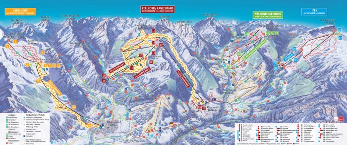 Das Hoechste Ski Resort Ski Map
