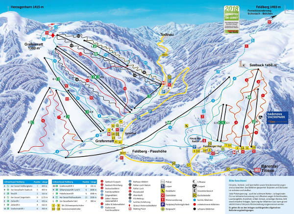 Feldberg Ski Resort Ski Trail Map