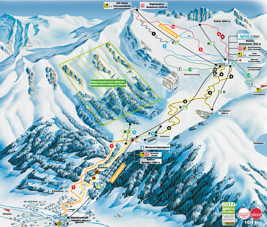 Nebelhorn Ski Resort Ski Map