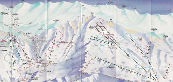 Iran Ski Trail Map