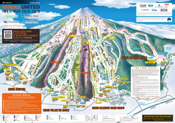 Niseko Ski Trail Map
