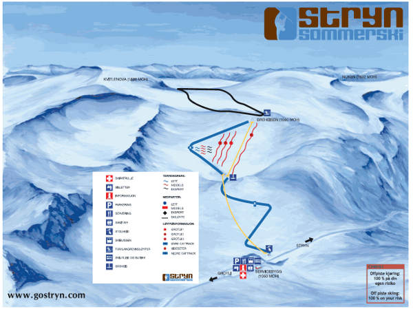 Stryn Ski Trail Map