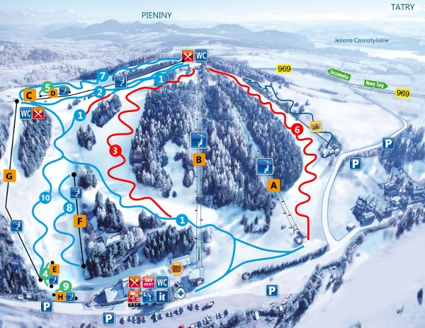 Czorsztyn Ski Trail Map