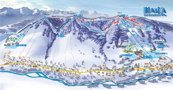 Kotelnica Ski Trail Map