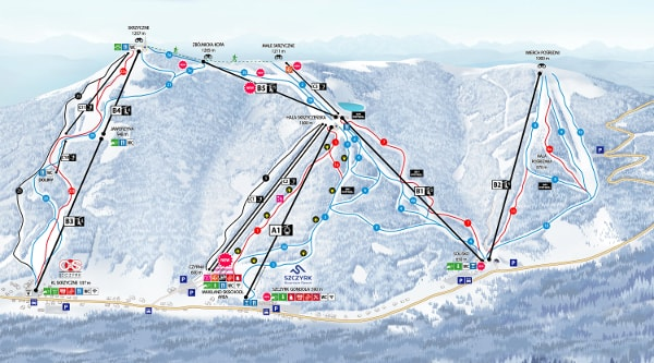 Szczyrk Ski Trail Map