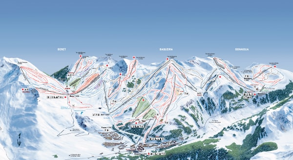Baqueira Beret Ski Trail Map