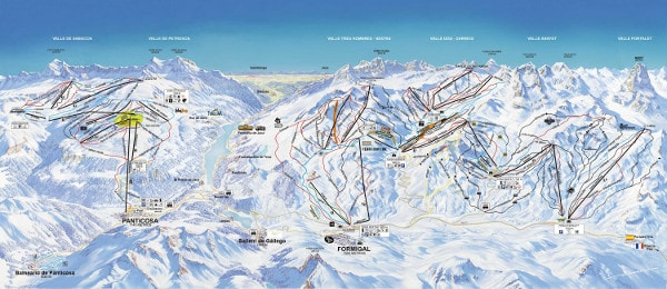 Formigal Panticosa Ski Trail Map