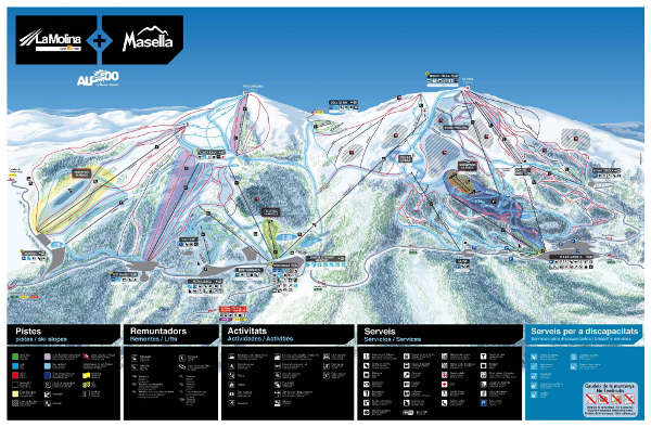 Masella Ski Trail Map