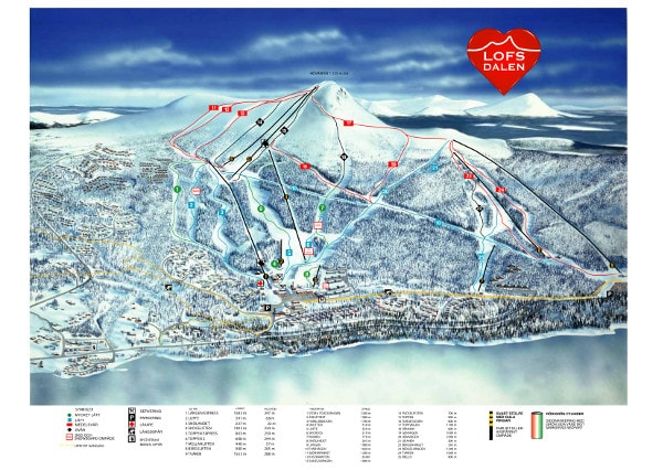 Lofsdalen Ski Trail Map