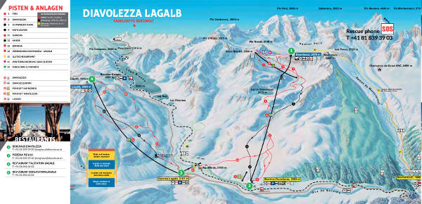 Diavolezza Lagalb Ski Trail Map