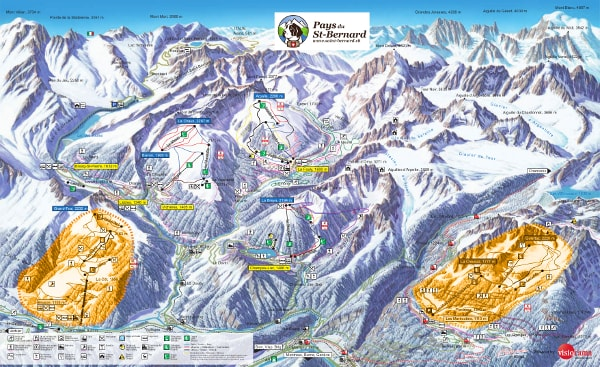 Saint Bernard Ski Trail Map