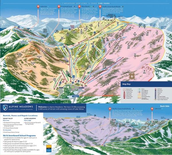 Alpine Meadows, Lake Tahoe Ski Map Free downloadable. on north star ski resort map, tahoe ski areas map area, kirkwood ski resort map, heavenly ski resort map, mammoth ski resort map, snowshoe ski resort map, diamond peak ski resort trail map, tahoe hiking map, steamboat ski resort map, northstar ski resort trail map,