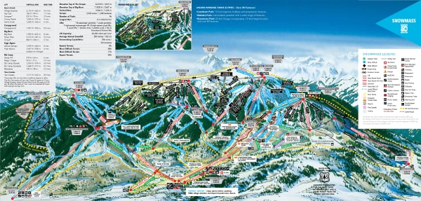 Aspen Snowmass Ski Trail Map