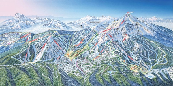 Big Sky Ski Resort Ski Trail Map