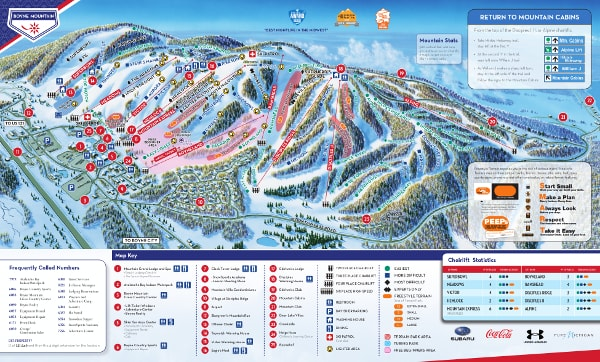Boyne Mountain Ski Resort Ski Trail Map