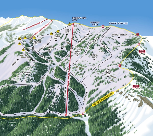 Crystal Mountain Northway Resort Ski Trail Map