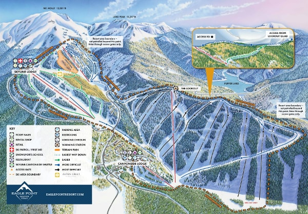 Eagle Point Ski Trail Map