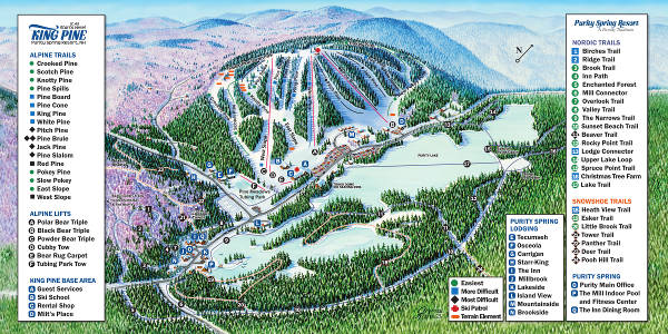 King Pine Ski Resort Ski Trail Map