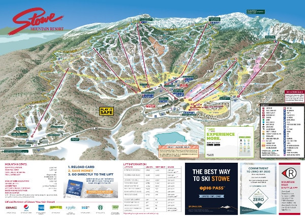 Stowe Ski Resort Ski Trail Map