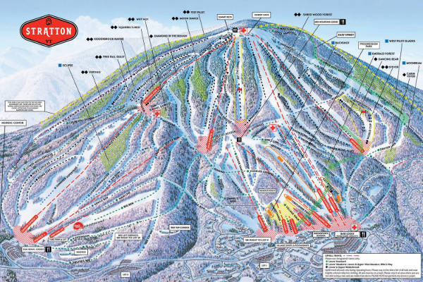 Stratton Ski Resort Ski Trail Map