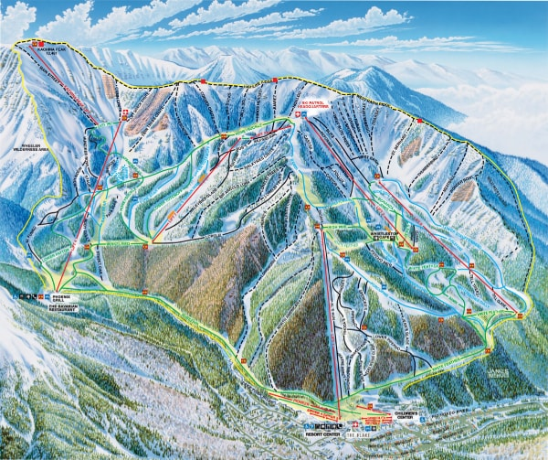 Taos Ski Valley Ski Map