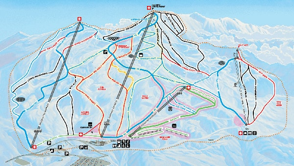 Coronet Peak Ski Trail Map
