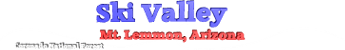 Ski Valley Mount Lemmon Ski Resort Logo